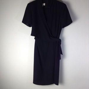 Jones New York Flaux-Wrap Maxi Dress